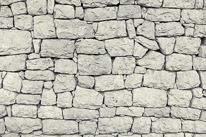 灰色石头墙壁高清背景图片
