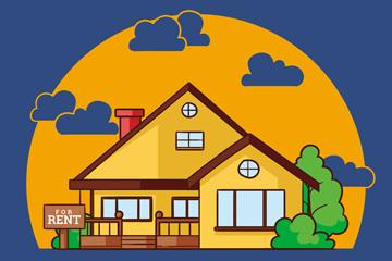 创意出租中的房屋矢量素材