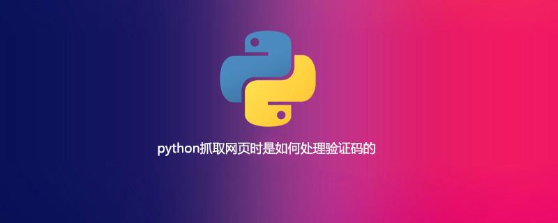 python抓取网页时是如何处理验证码的