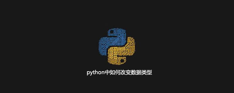 python中如何改变数据类型