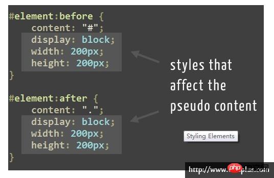 pseudo element