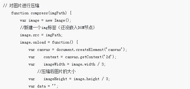 canvas实现压缩图片的代码示例