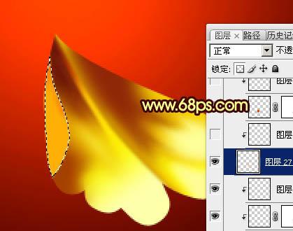 Photoshop打造非常华丽的金色牡丹