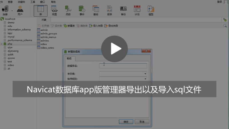 Navicat怎样导入导出sql文件?(图文步骤+视频教程)