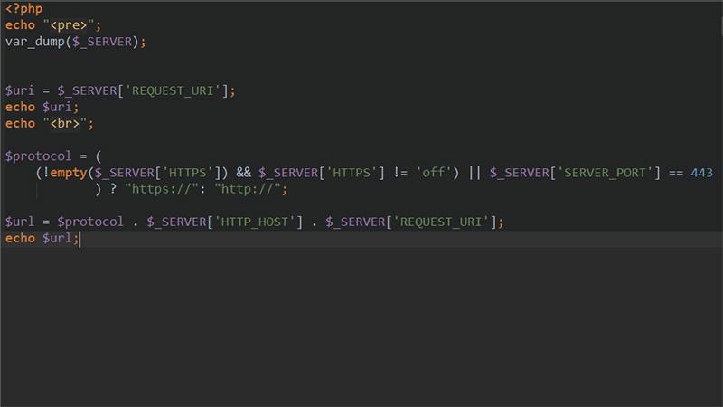 php怎么获取当前完整url地址