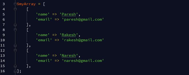 如何从php多维数组中获取特定的键值?