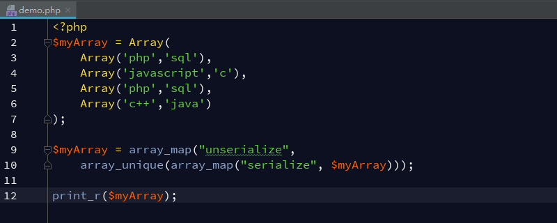 如何从PHP多维数组中删除重复值?