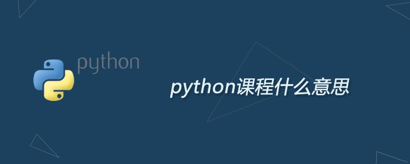 python学习_python课程什么意思