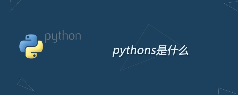 python学习_pythons是什么