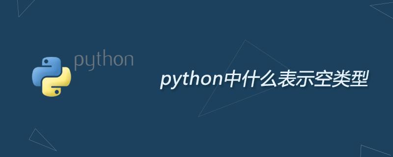 python学习_python中什么表示空类型