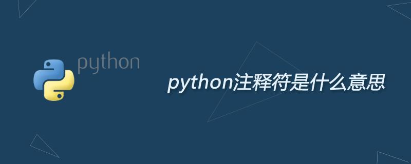 python学习_python注释符是什么意思