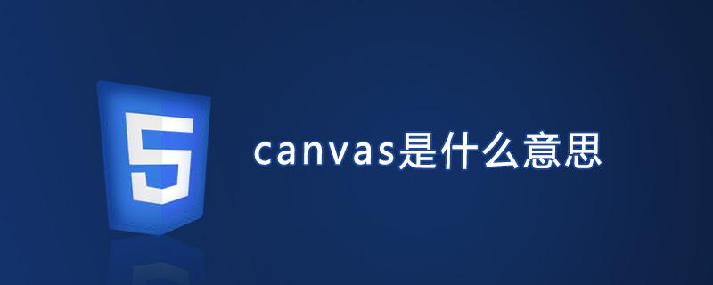 canvas是什么意思