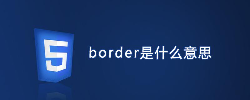 border是什么意思