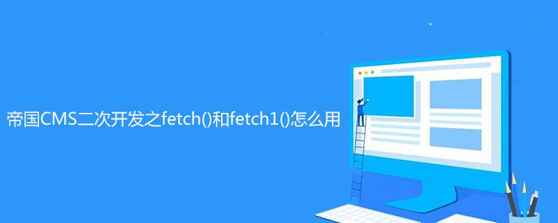 帝国CMS二次开发之fetch()和fetch1()怎么用