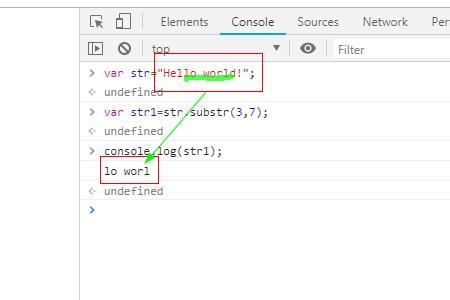 JavaScript中substr()方法和substring()方法的区别
