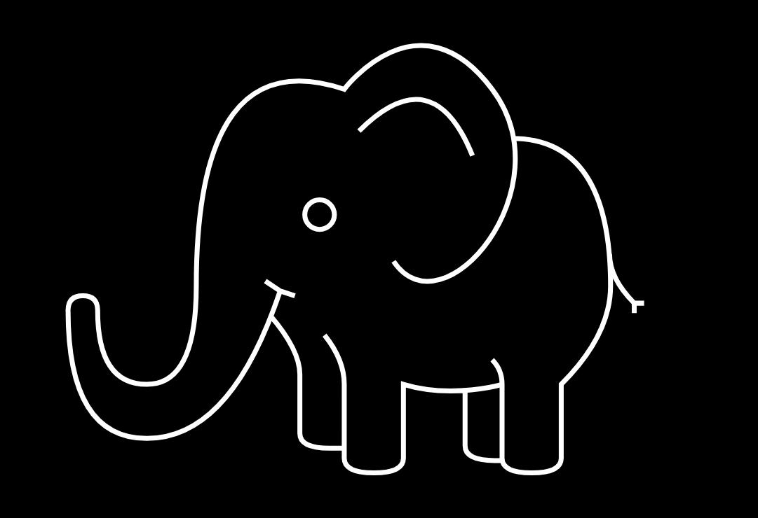 HTML5+CSS3动态画出一个大象