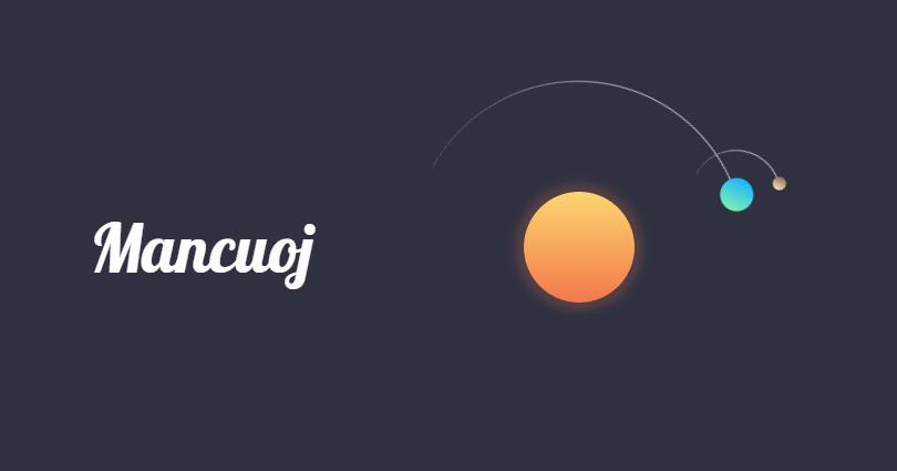 中秋献礼,分享一个CSS日地月公转动画效果!