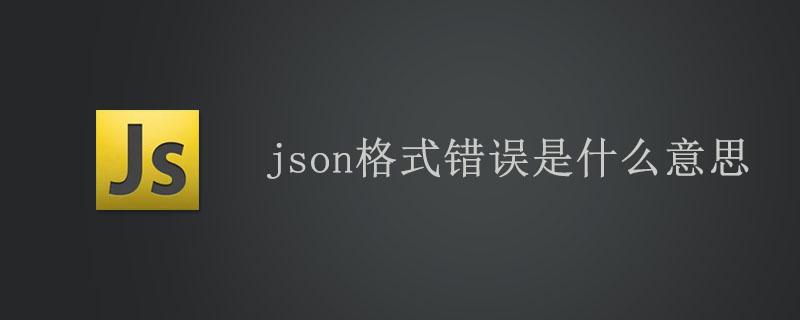 json格式错误是什么意思