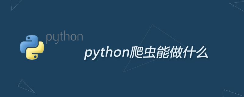 python爬蟲能做什么