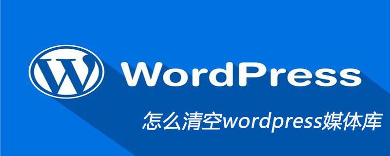 怎么清空wordpress媒体库_wordpress教程