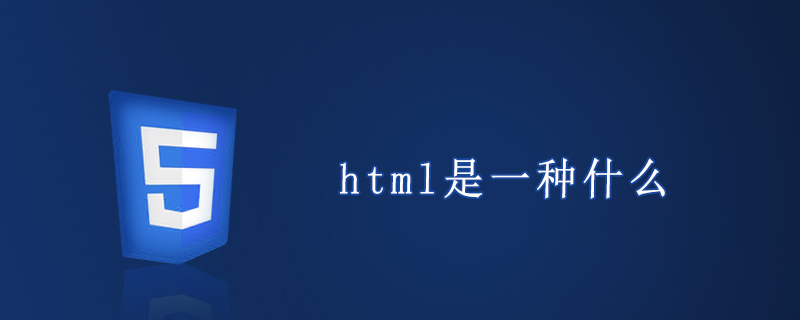 html是一种什么