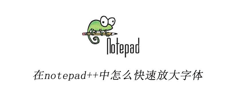 在notepad++中怎么快速放大字体