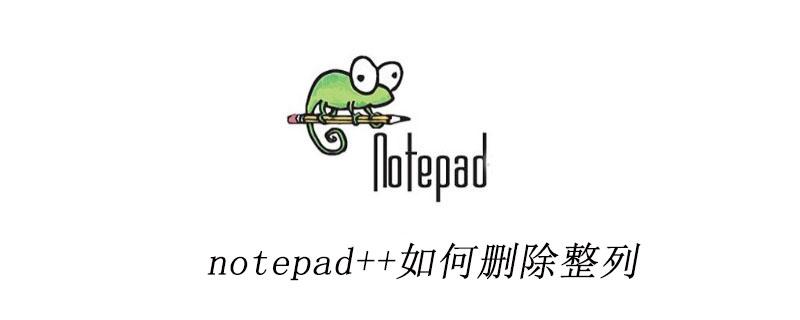 notepad++如何删除整列