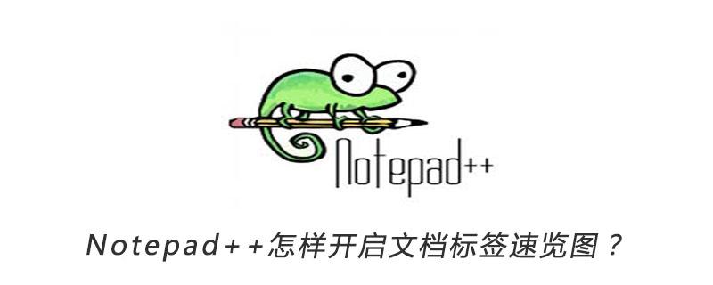 Notepad++怎样开启文档标签速览图?