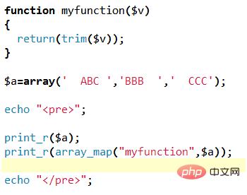 【php学习】array_map()函数--调用回调函数处理数组数据