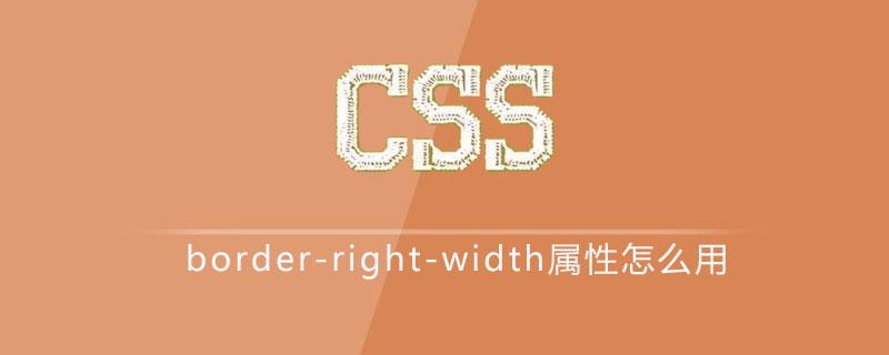 css border-right-width属性怎么用