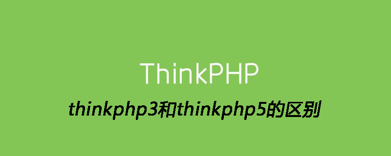 thinkphp3和thinkphp5的区别