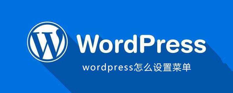wordpress怎么设置菜单_wordpress教程