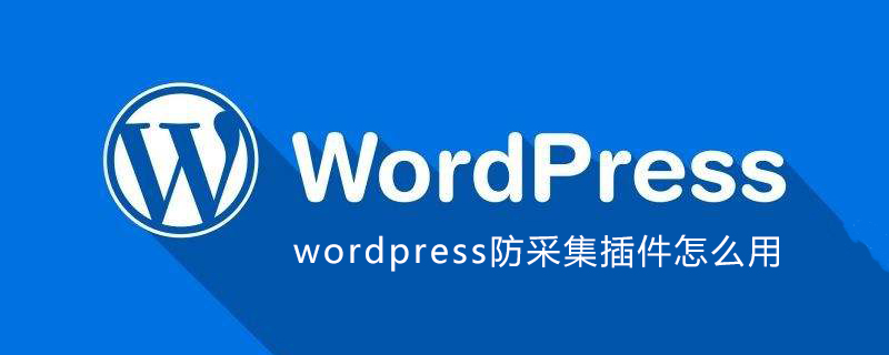 wordpress防采集插件怎么用_wordpress教程
