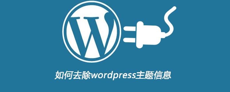 如何去除wordpress主题信息