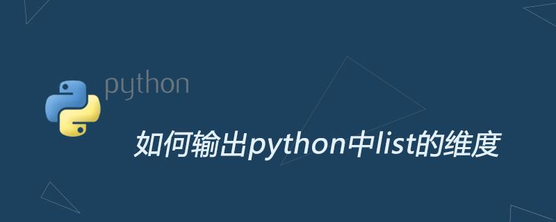 如何輸出python中list的維度