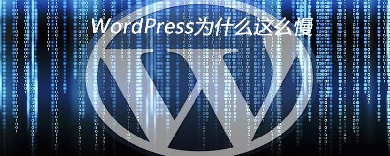 WordPress为什么这么慢_wordpress教程