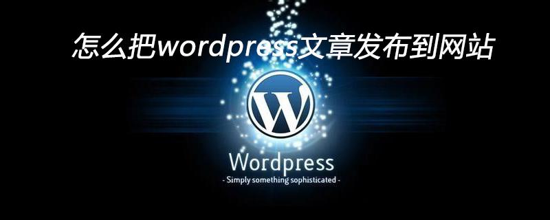 怎么把wordpress文章发布到网站_wordpress教程