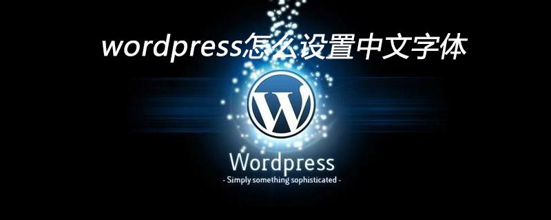 wordpress怎么设置中文字体_wordpress教程
