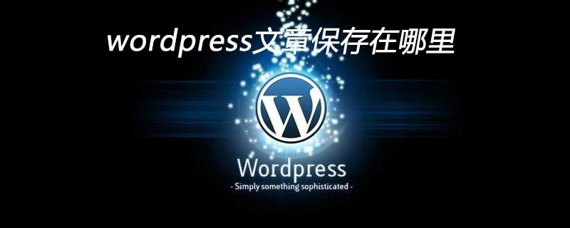 wordpress文章保存在哪里
