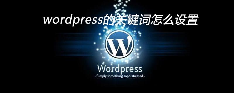 wordpress的关键词怎么设置