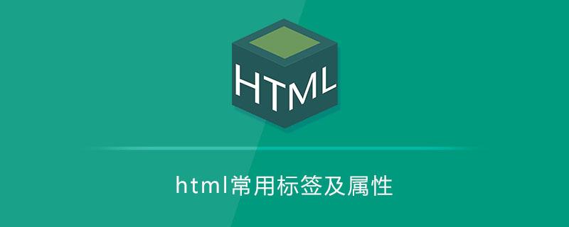 html常用标签及属性
