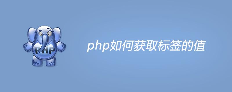 php如何获取标签的值
