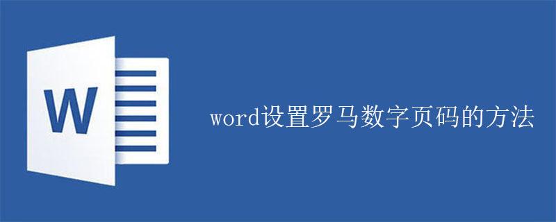 word设置罗马数字页码的方法