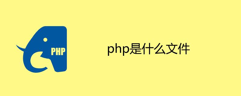 php是什么文件?
