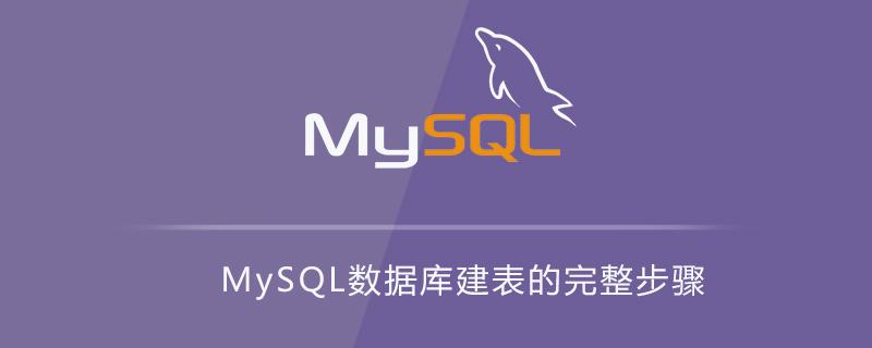 MySQL数据库建表的完整步骤