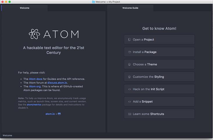 atom下载安装及使用教程