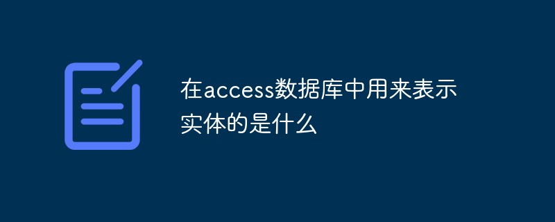 在access数据库中用来表示实体的是什么