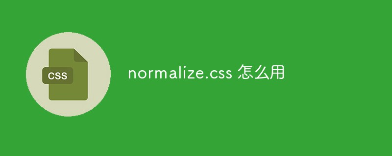normalize.css 怎么用