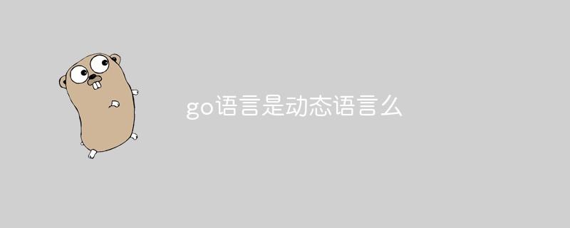 go语言是动态语言么