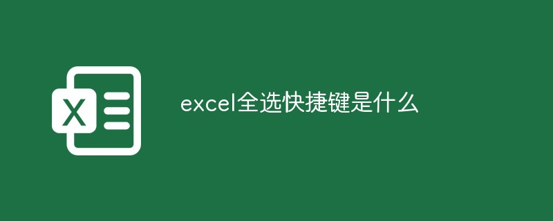 excel全选快捷键是什么